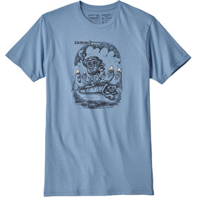 Patagonia Nut vs. Piton Organic T-Shirt Men Railroad Blue